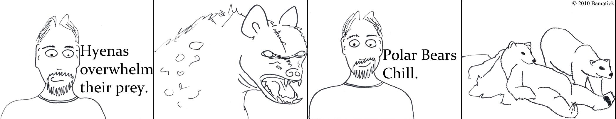 Hyena VS Polar Bear